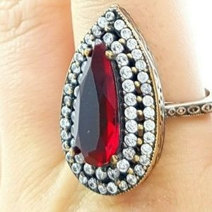 Turkish Handmade Sterling Silver .925 Ruby Hurrem